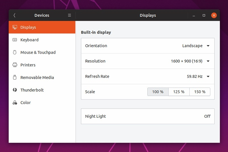 fractional scaling ubuntu1904