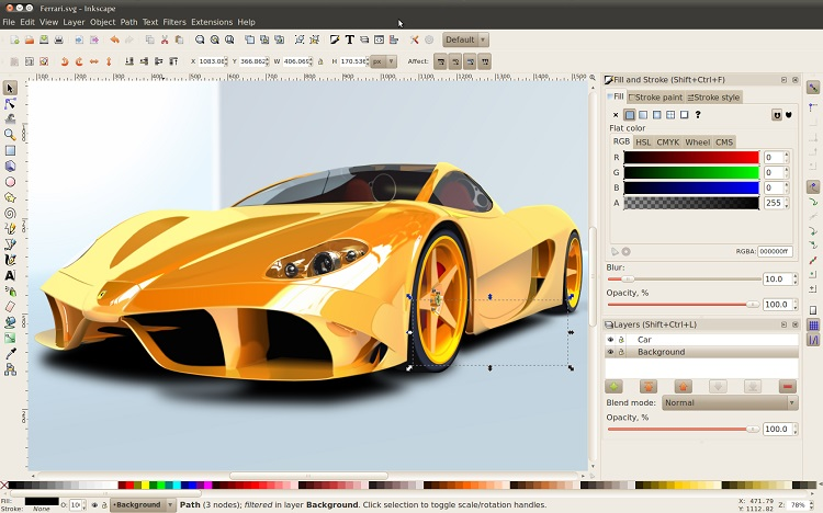 inkscape carro